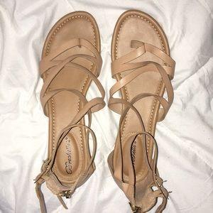 Strappy Tan Sandals